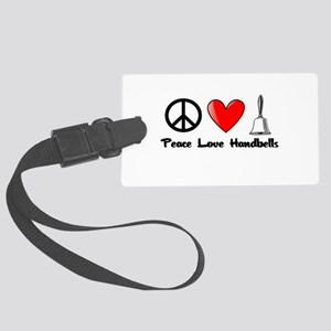 Peace, Love, Handbells Luggage Tag