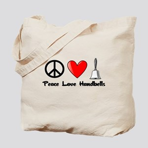 Peace, Love, Handbells Tote Bag