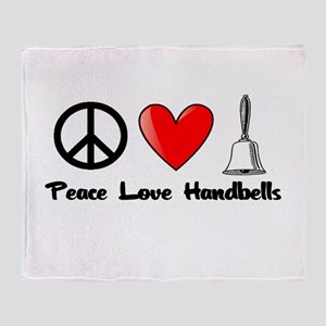 Peace, Love, Handbells Throw Blanket