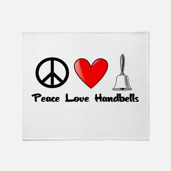 Peace, Love, Handbells Throw Blanket