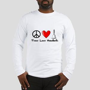 Peace, Love, Handbells Long Sleeve T-Shirt