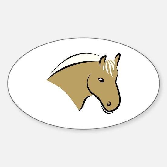 Horse Head Sticker (Oval)