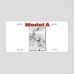 Model A Controls Aluminum License Plate
