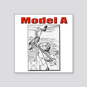 Model A Controls Sticker