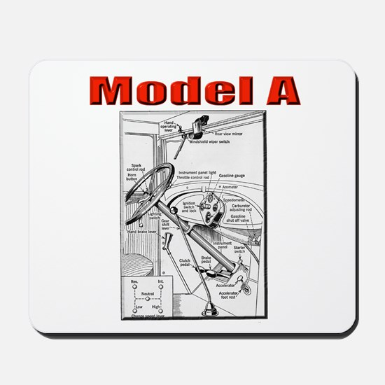 Model A Controls Mousepad