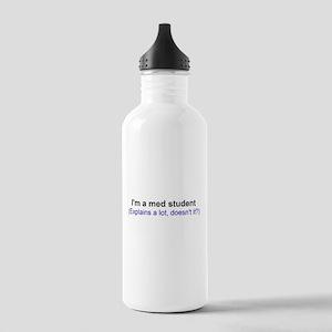 I'm a Med Student Water Bottle