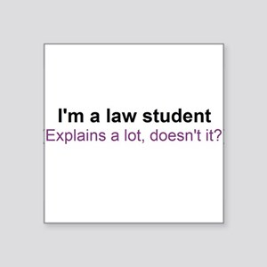 I'm a law student Sticker