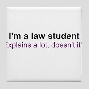 I'm a law student Tile Coaster