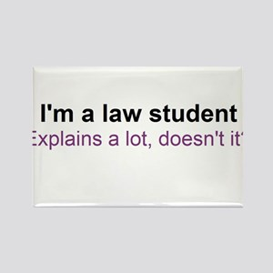 I'm a law student Rectangle Magnet