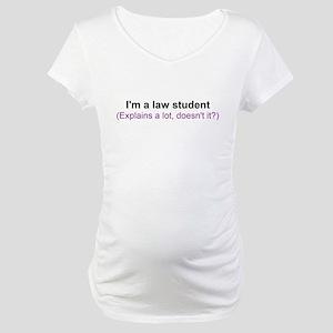 I'm a law student Maternity T-Shirt