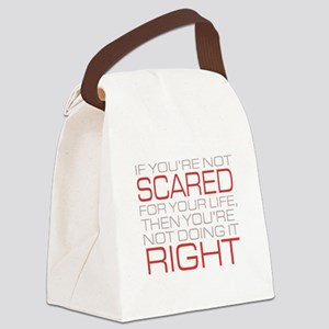 'Scared For Your Life' Canvas Lunch Bag