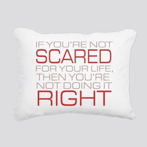'Scared For Your Life' Rectangular Canvas Pillow