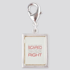 'Scared For Your Life' Silver Portrait Charm