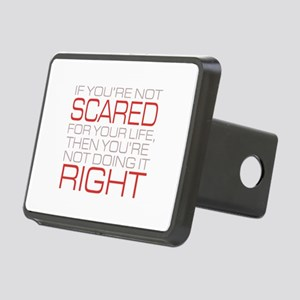 'Scared For Your Life' Rectangular Hitch Cover