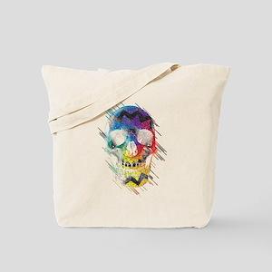 Color Geometric Design Skull Tote Bag