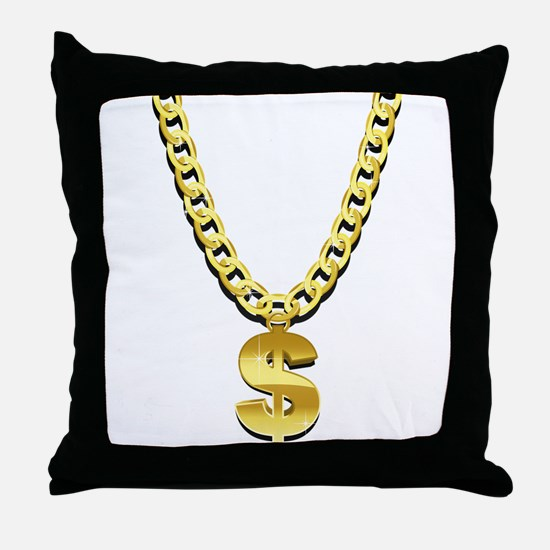 Gold Chain Throw Pillow