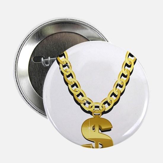 """Gold Chain 2.25"""" Button"""