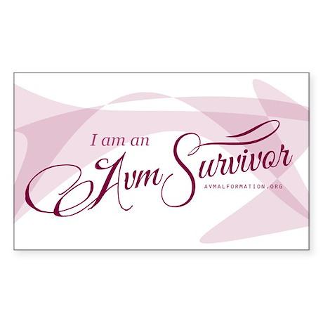 I am an AVM Survivor Sticker
