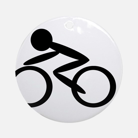 Cycling Ornament (Round)