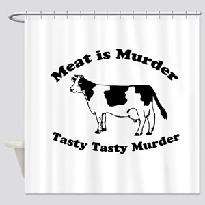Meat Is Murder Shower Curtains