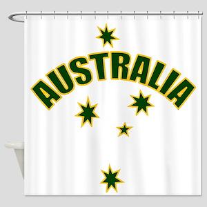 AUSTRALIASOUTHERNSTARyellow Shower Curtain