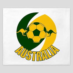 Australia Ball and Kanaroos King Duvet