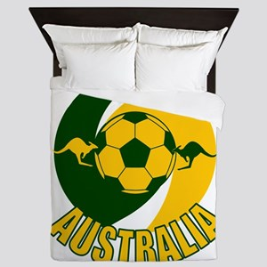 Australia Ball and Kanaroos Queen Duvet
