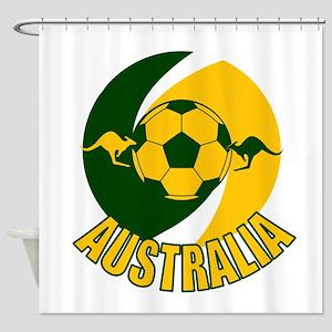 Australia Ball and Kanaroos Shower Curtain