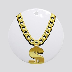 Gold Chain Ornament (Round)