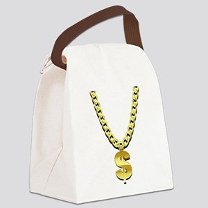 Gold Chain Canvas Lunch Bag