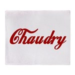 Chaudry name Throw Blanket