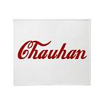 Chauhan name Throw Blanket