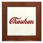 Chauhan name Framed Tile