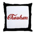 Chauhan name Throw Pillow