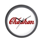 Chauhan name Wall Clock
