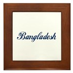 Bangladesh (Blue) Framed Tile