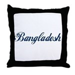 Bangladesh (Blue) Throw Pillow