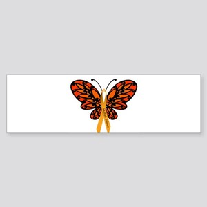 MS Awareness Butterfly Ribbon Bumper Sticker
