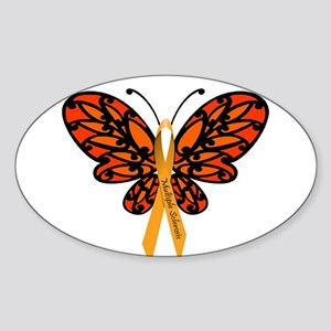 MS Awareness Butterfly Ribbon Sticker