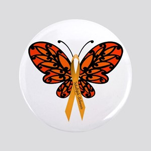 "MS Awareness Butterfly Ribbon 3.5"" Button"