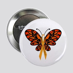 """MS Awareness Butterfly Ribbon 2.25"""" Button"""