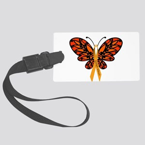 MS Awareness Butterfly Ribbon Luggage Tag