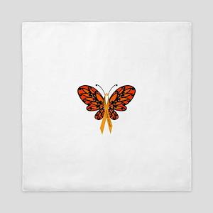 MS Awareness Butterfly Ribbon Queen Duvet