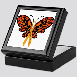 MS Awareness Butterfly Ribbon Keepsake Box