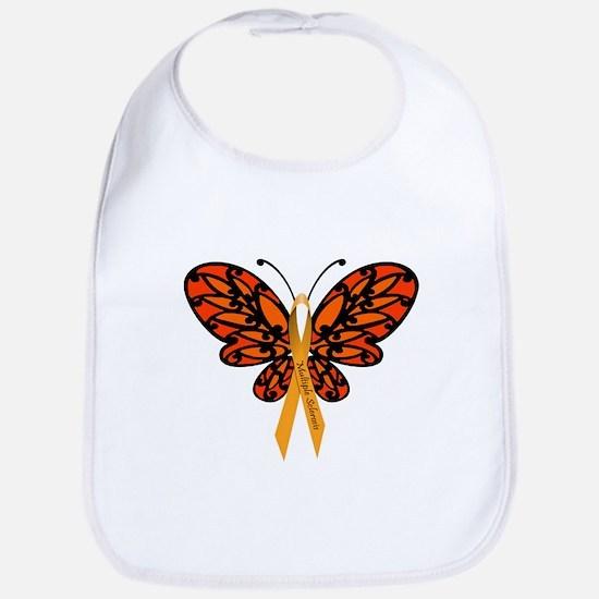 MS Awareness Butterfly Ribbon Bib