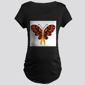 MS Awareness Butterfly Ribbon Maternity T-Shirt