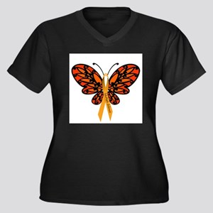 MS Awareness Butterfly Ribbon Plus Size T-Shirt
