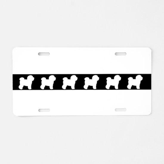 Unique Bichon frise Aluminum License Plate