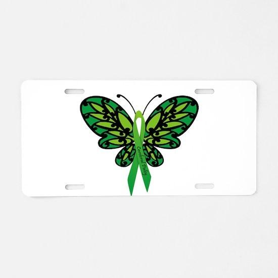 CP Awareness Ribbon Aluminum License Plate