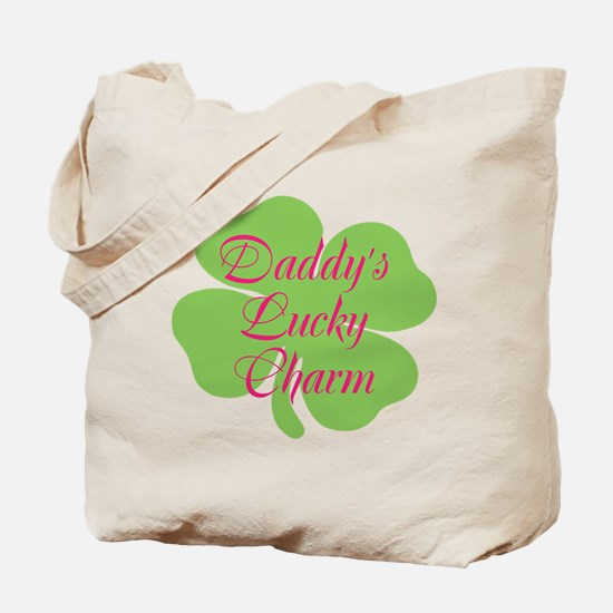 Pink, Daddys lucky charm/ Tote Bag
